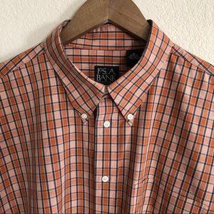 Jos. A. Banks Men's Shirt in orange plaid